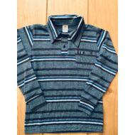 Fiú csíkos pulóver (zsebes)