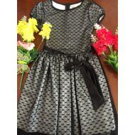 Alkalmi ruha csipkés fekete (104-146)