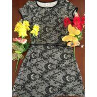 Nyári ruha virágmintás( fekete-fehér)
