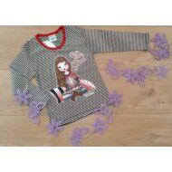 Csíkos hosszú ujjú póló (Cute little Girl) 92-134