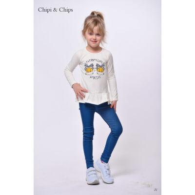 Chipi&Chips kislány fodros alju póló