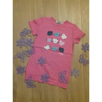 Lány póló (cicafejes) rózsaszín(104-128)